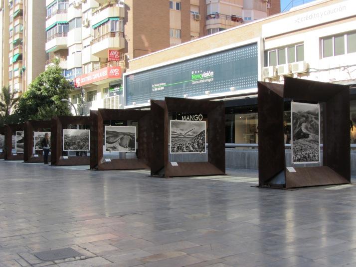 Instalación de la exposición. Murcia. Foto:  Bárbara.