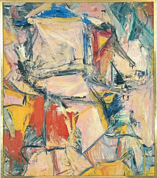 "Kooning: ""Interchanged"". Óleo sobre tela. 1955. Colección de David Gellen. Los Angeles."