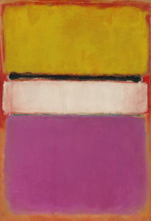 """Mark Rothko : """"Centro blanco (amarillo, rosa y lavanda sobre rosa) Óleo sobre lienzo. 1950. 214 x 174 cm. Colección privada"""
