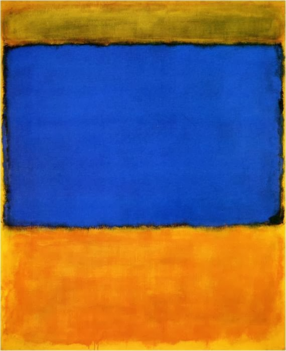 "Mark Rothko : ""Orange and blue"""