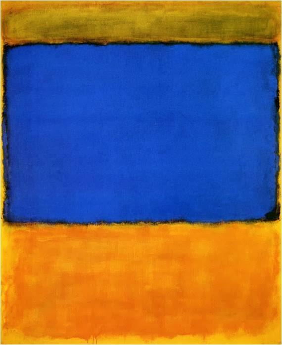 """Mark Rothko : """"Orange and blue"""""""
