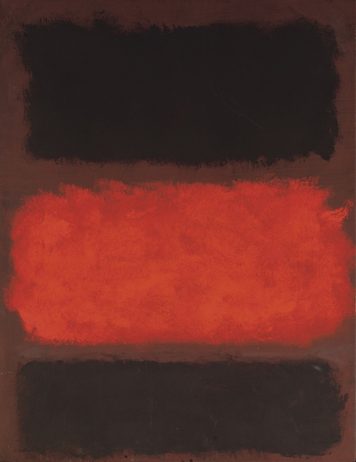 "Mark Rothko :""Untitled (negro, rojo,negro sobre marrón"""
