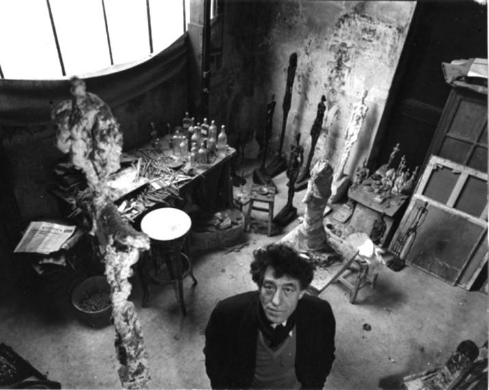 Alberto Giacometti. Foto: Doisneau.