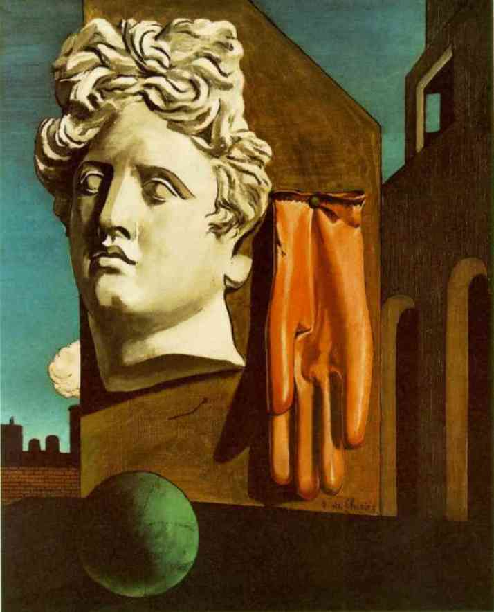 "De Chirico: ""Canto d'amore"" 1914. Óleo sobre lienzo, 73 x 59. MoMA."