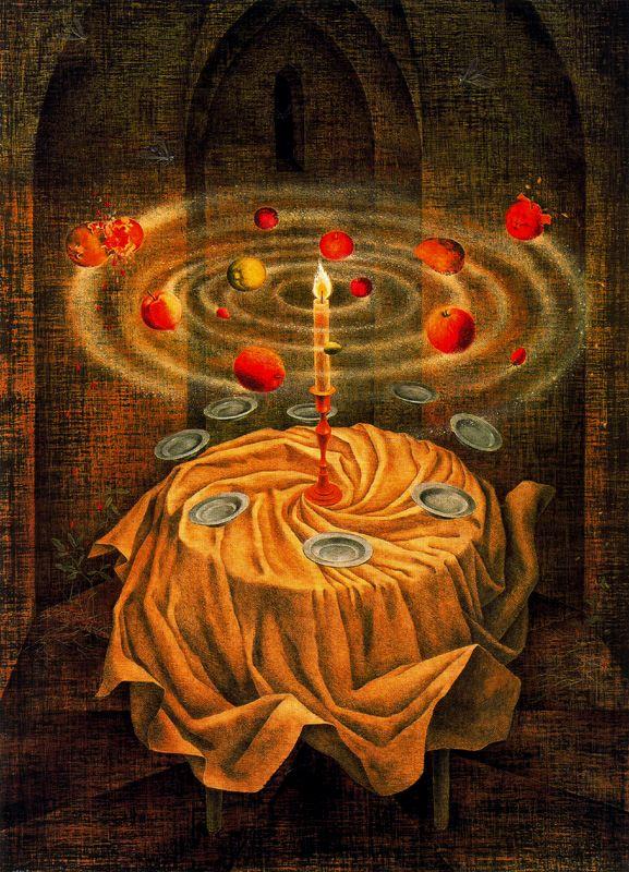 "Remedios Varo: ""Naturaleza muerta resucitando"". 1963. Óleo sobre lienzo, 110 x 80."