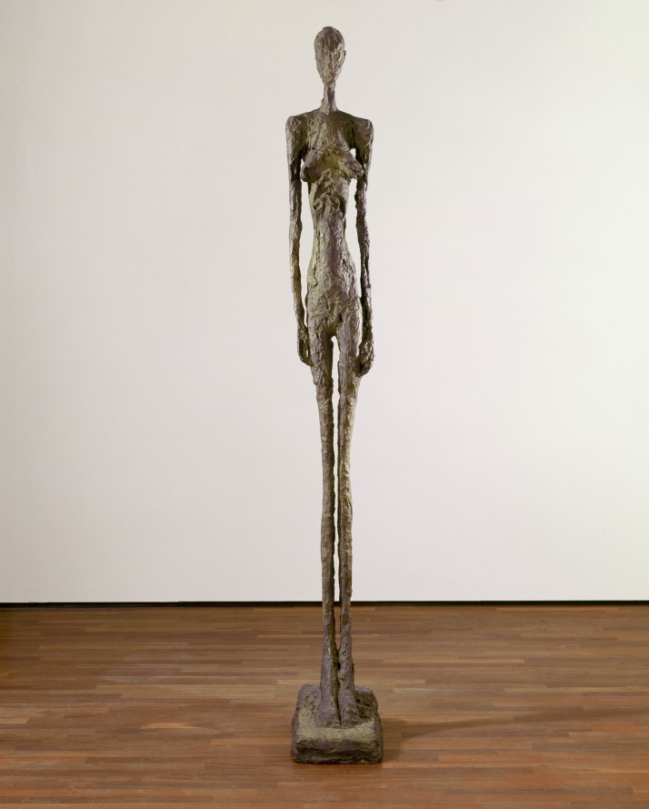 Giacometti: Mujer grande II. 1960. Kunsthaus, Zurich.