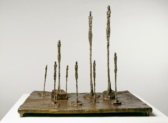"""Giacometti:  """"La Crairière"""". 1950. 59 x65 x 52 cm."""