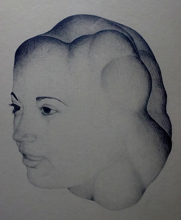"Aurelio Serrano Ortiz: ""Retrato de Bárbara"". Lapiz sobre cartón, 69 x51"