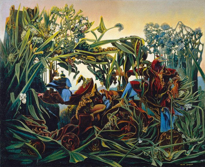 "Max Ernst: "" nature and dawn.1938, oleo sobre tela. 80 x 100. Colección privada"