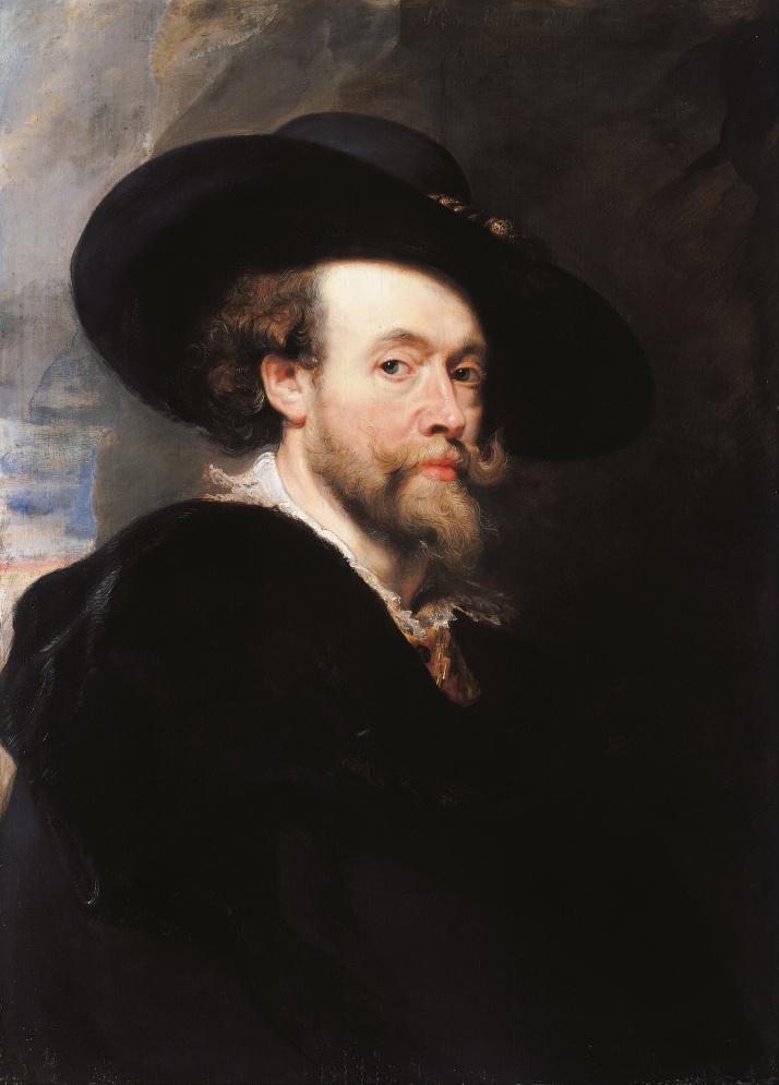 "Rubens: ""Autorretrato"", 1623. öleo sobre lienzo, 86 x 62 cm. National Gallery de Canberra,"