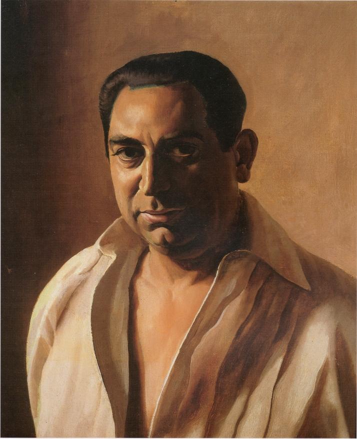 """Cristóbal Hall : """"Retrato de Mariano de Cossío"""", c. 1925. Öleo sobre lienzo, 61 X 51 cm. Colección particulas, La Laguna."""