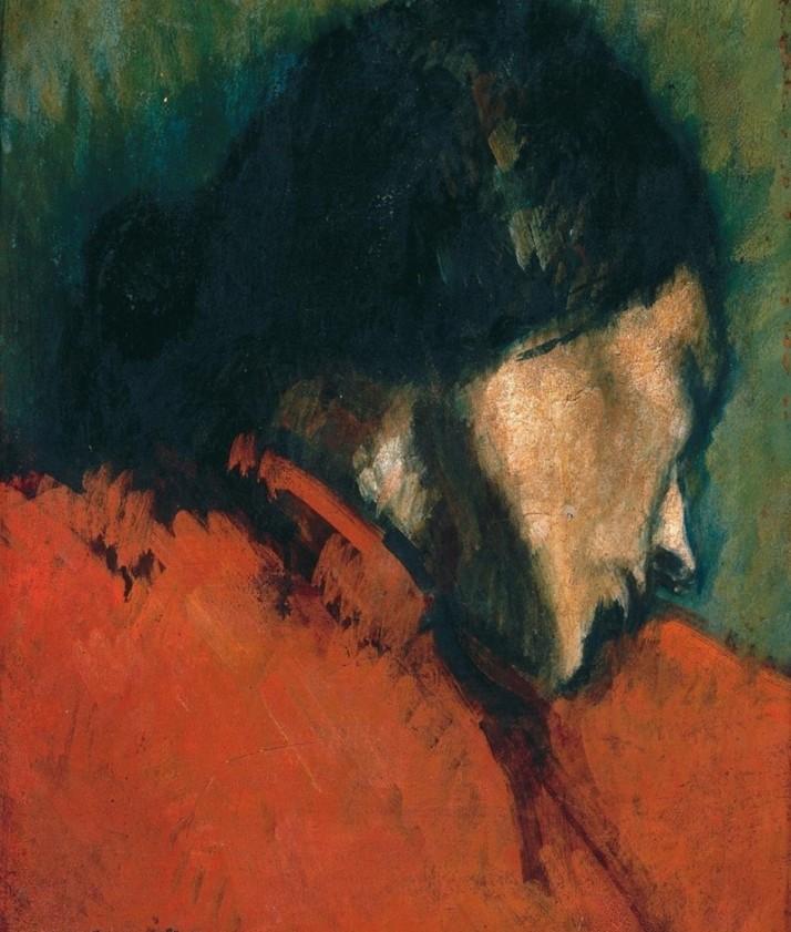 """""""Gitana (Consuelo)"""" (1904), oli sobre tela (Museu de l'Empordà de Figueres),  de l'exposició """"Nonell, figures i espais"""", a la Fontana d'Or de Girona."""