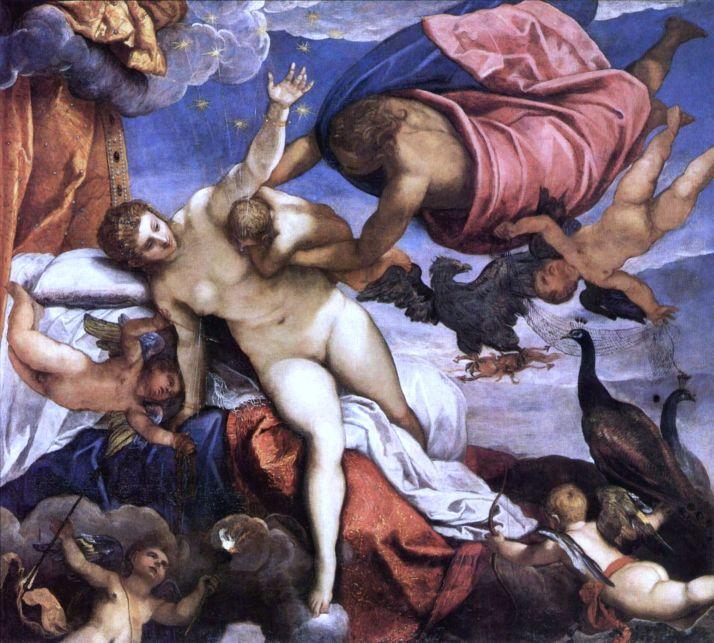 """Tintoretto: """"El origen de la Vía Láctea"""". Circa 1575."""