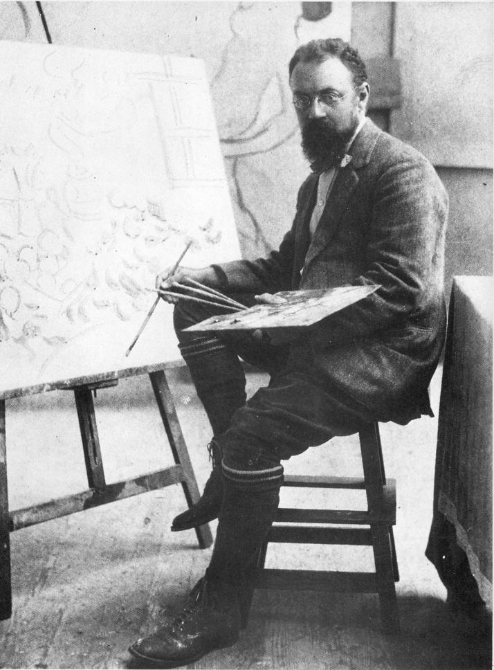 Matisse en su taller. Otoño 1909-