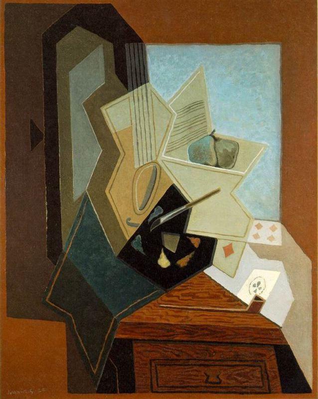 """Juan Gris: """"La ventana del pintor"""". 1925"""