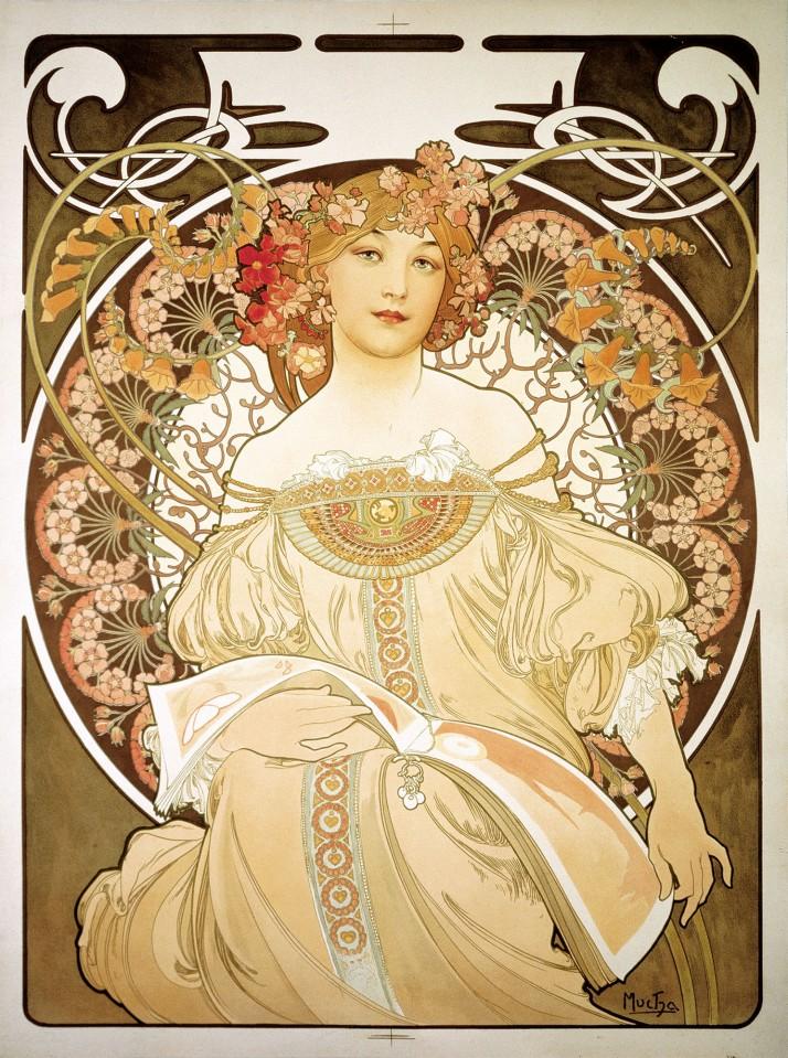 "Alfons Mucha: "" Reverie"" 1892"