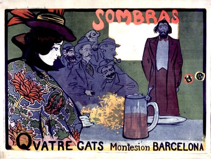 "Ramón Casas: ""Sombres Quatre Gats"", 1898."