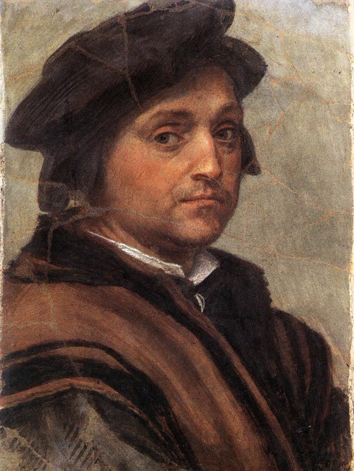 """Andrea del Sarto:"""" Autorretrato"""", óleo sobre tela. 47 x 34. Galleria degli Uffizi, Florencia"""