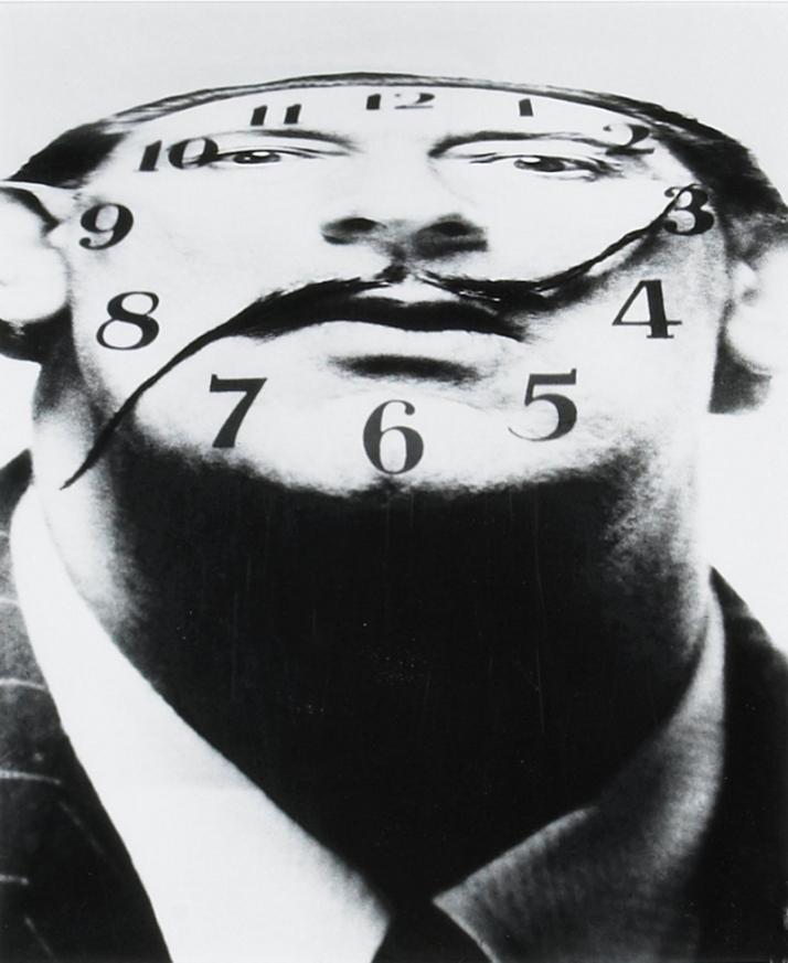 """Philippe Halsman: """"l el bigote de Dalí"""". 1953."""