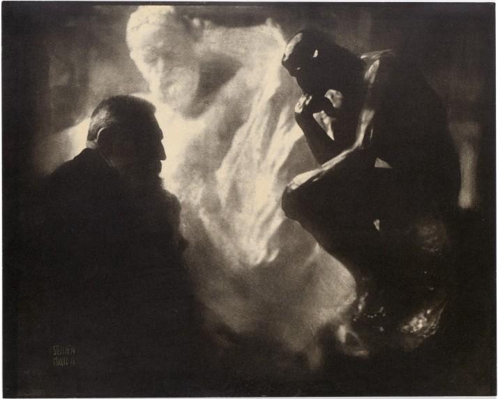 """Steichen:""""Rodin ante El Pensador"""""""