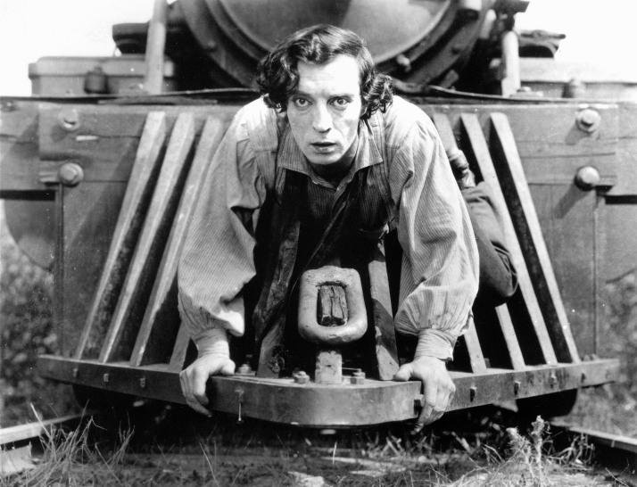 """Buster Keaton en """"El maquinista de La General"""""""