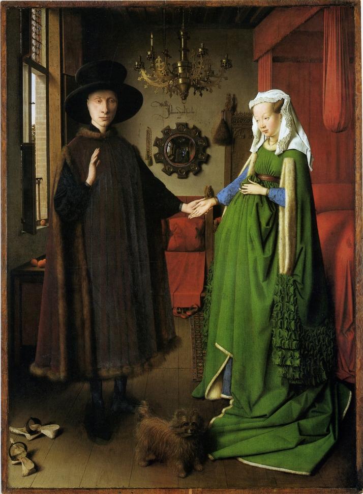 """Jan van Eyck: """"Retrato de Giovanni Arnolfini y su esposa"""""""
