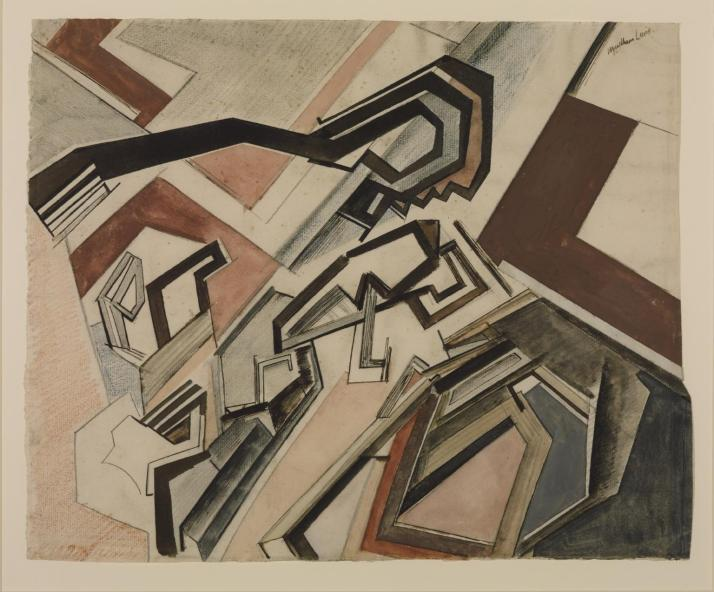 "Wyndham Lewis:"" Planners: Happy Day"", 1912-13"