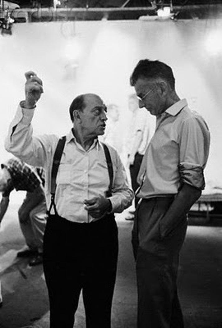 Samuel Beckett y Buster keaton durante el rodaje