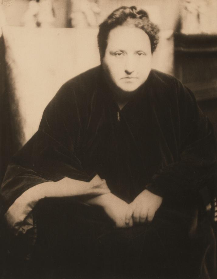 Gertrude Stein fotografiada por Coburn