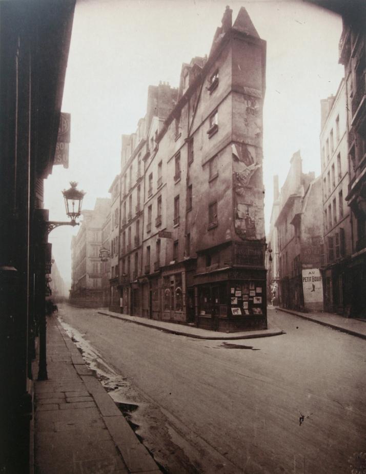 """Eugène Atget: """"Esquina de la rue de Seine"""", 1924"""