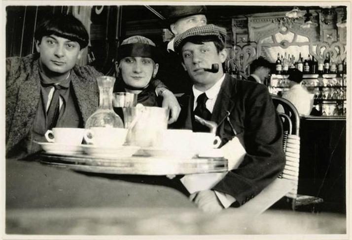 Jean Cocteau: Picasso, Pâquerette y Moïse Kisling.