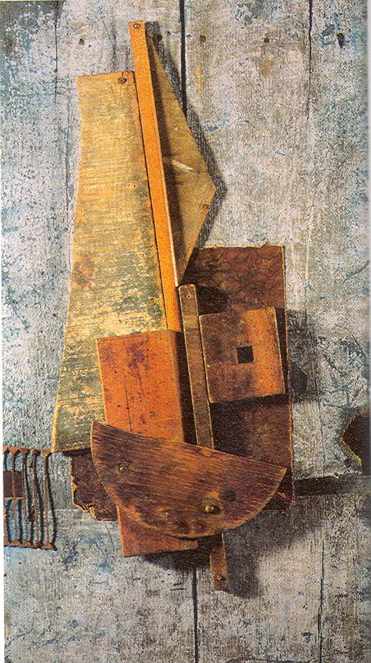 """Tatlin: """", Contrarelieve Azul"""", 1914"""
