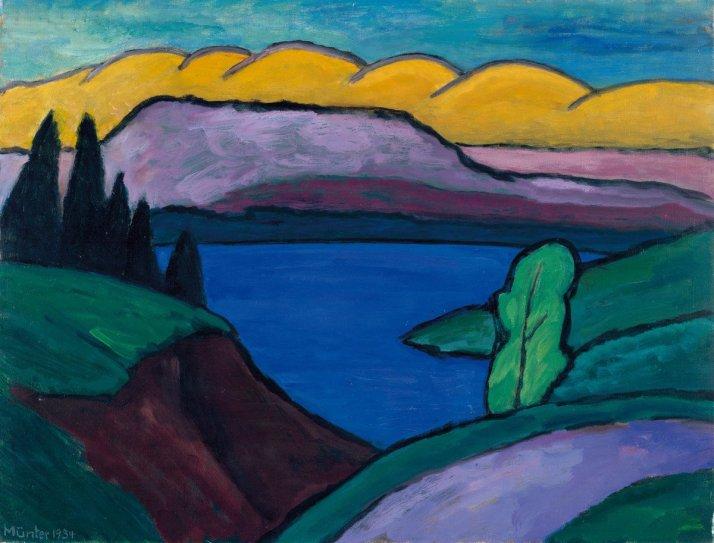 Münter Gabriele, Der blaue See