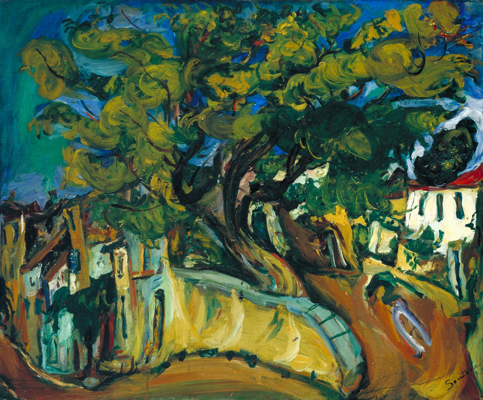 Cagnes Landscape with Tree c.1925-6 by Cha?m Soutine 1893-1943